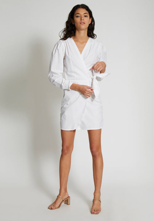Blair Wrap Dress White