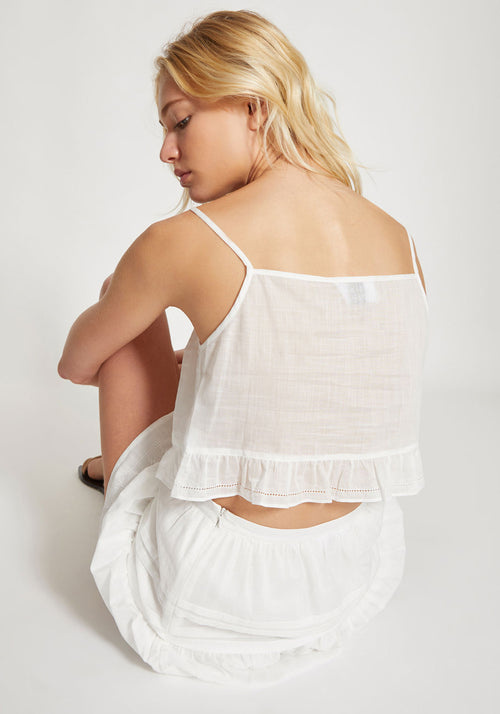 Harper Crop White