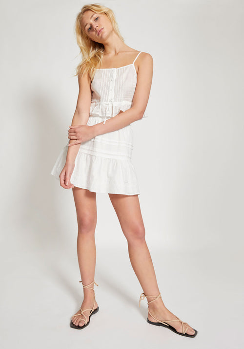 Harper Mini Skirt White