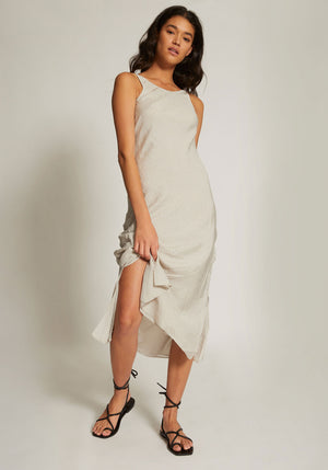 Indre Midi Dress Stone