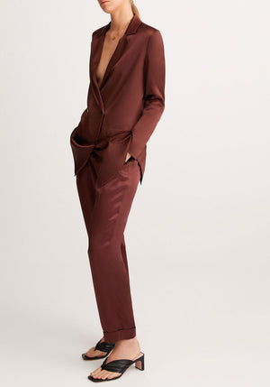 Lenny Blazer Chocolate Brown