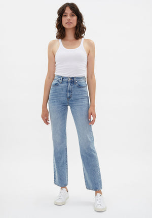 London High Rise Straight Jeans Heartache