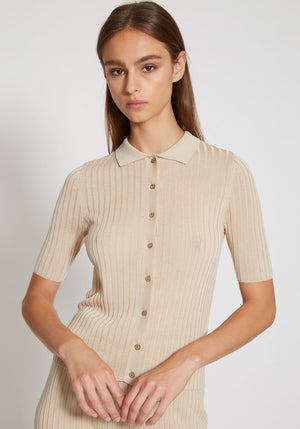 Arlo Knit Shirt Sand