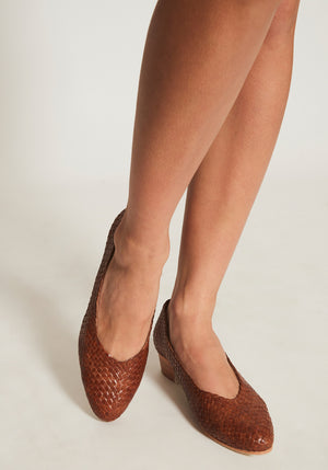 Cisco Woven Heel Antique Tan