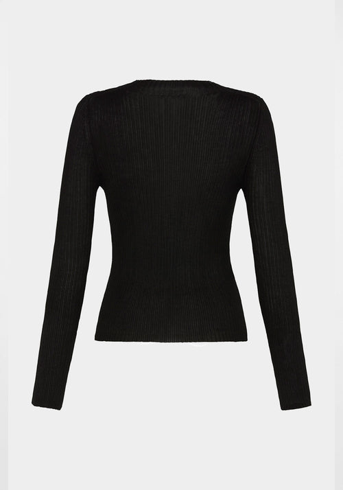 Donna Knit Top Black