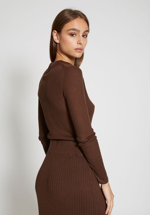 Donna Knit Top Cocoa