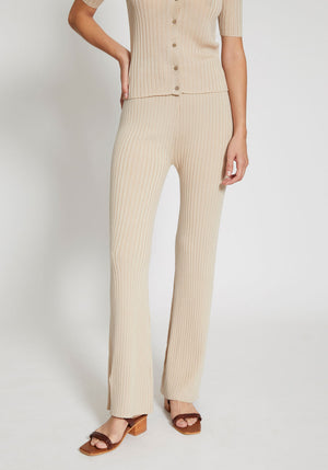 Enzo Knit Pants Sand