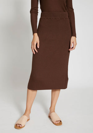Lia Knit Skirt Cocoa