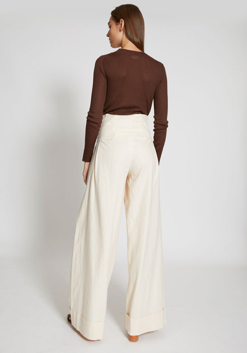 Lise Trousers Vintage White