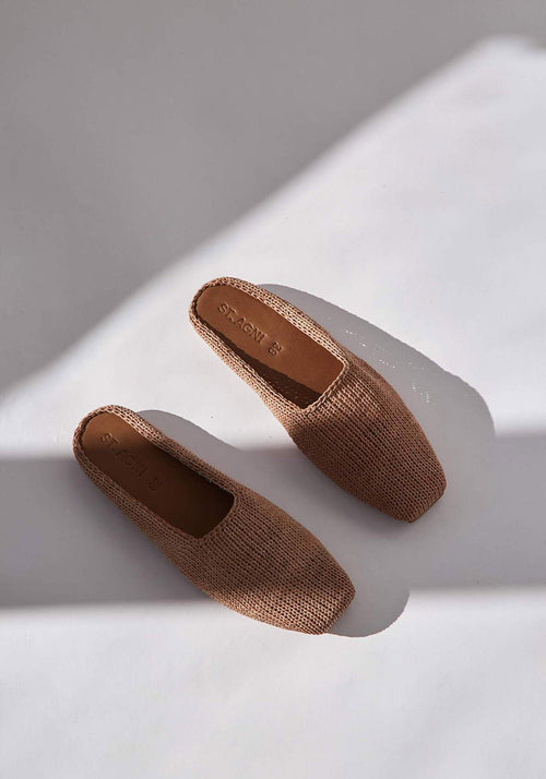Mae Knit Loafer Tan