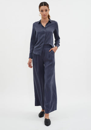 Patti Silk Pants Navy