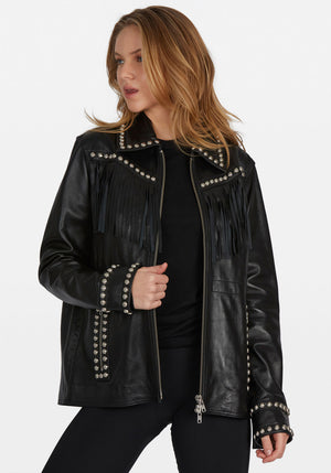 EMBER LEATHER JACKET BLACK