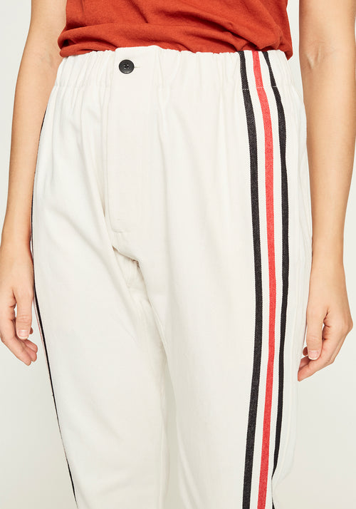 Stripe Detail Relaxed Pant