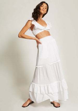 The Crossing Maxi Skirt Ivory