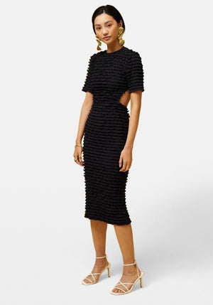 Casius Midi Dress Black