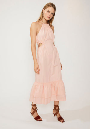 Eden Halter Neck Maxi Dress Pink