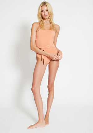 Farrah Tie Belt One Piece Coral