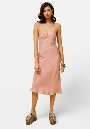 Ilya Slip Dress Nude Pink