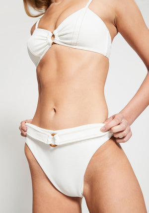 Kaia Super High Cut Bottom Ivory