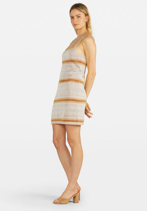 Luella Knitted Mini Dress Multi Stripe