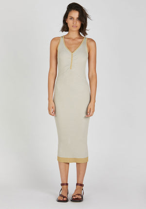Sonnet Knit Dress Beige Yellow