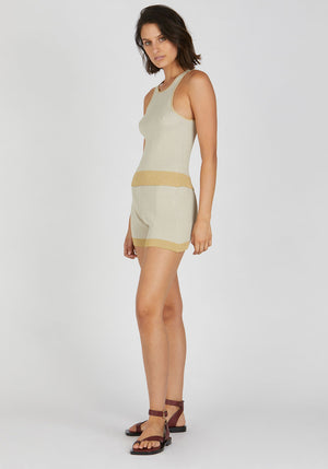 Sonnet Knit Short Beige Yellow