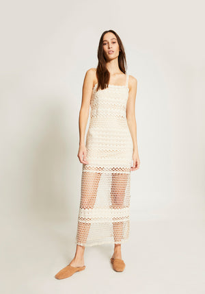 Stella Crochet Maxi Natural