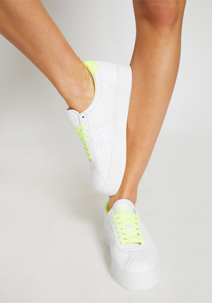 CLUB 3 2854 WHT/FLURO YELLOW