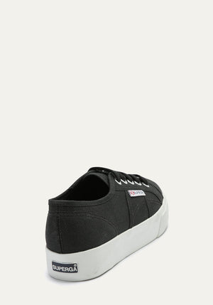 Cotu Canvas Platform Sneaker Black/White