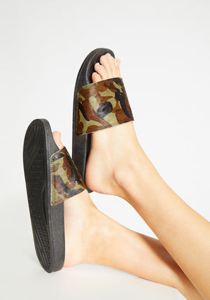 Pool Slide 1908 Camo/Black Horse