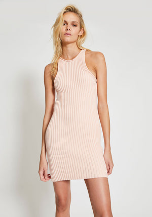 Shrunken Rib Tank Dress Melon