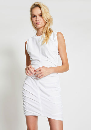 Wash + Go Side Tie Dress White