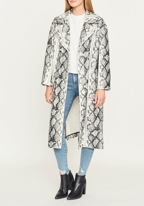 TASIA COAT OFF WHITE SNAKE