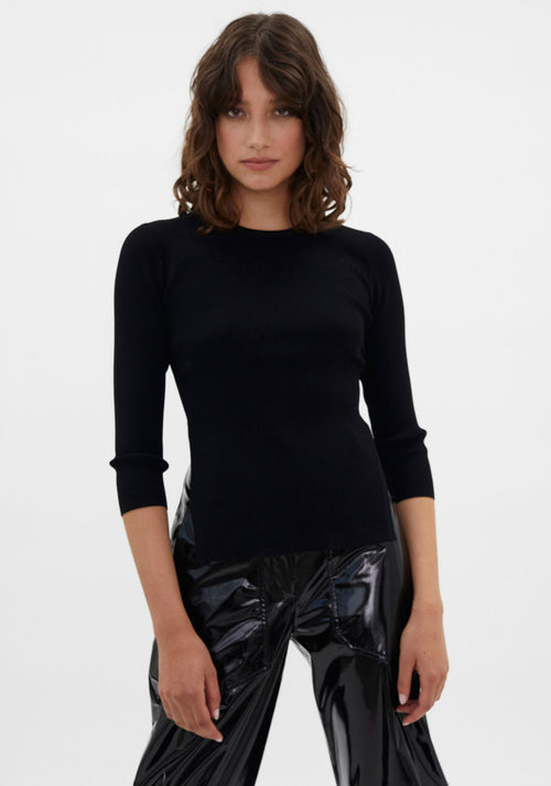 Runway | Circle Open Back Sweater Black