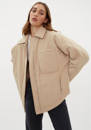 Clyde Padding Shirt Jacket Tan