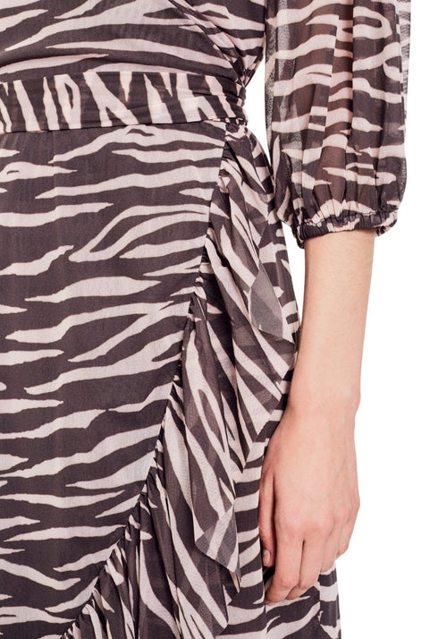 Tilden Mesh Wrap Dress
