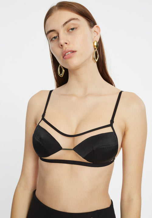 TRACE FLOAT BRA BLACK