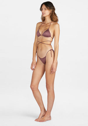 Praia Tie Up Top Amethyst