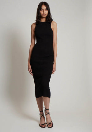 Interlink Sleeveless Rib Knit Dress