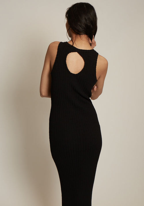Interlink Sleeveless Rib Knit Dress - Tuchuzy