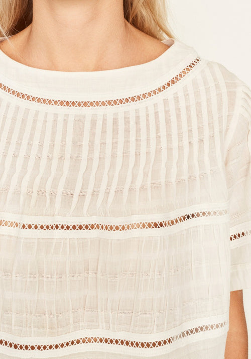 Aurelie Pleated Tee