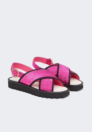 Contessa Kate Low Cross Metallic Pink