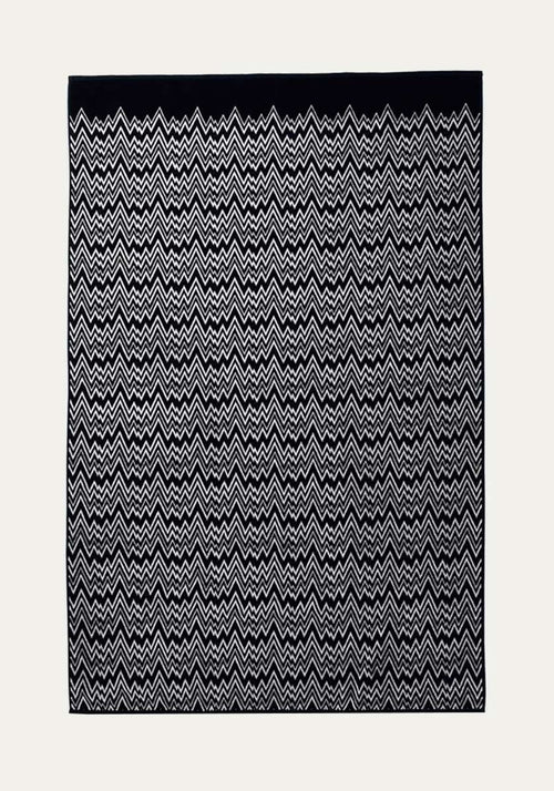 Vanni Bath Sheet Black/White