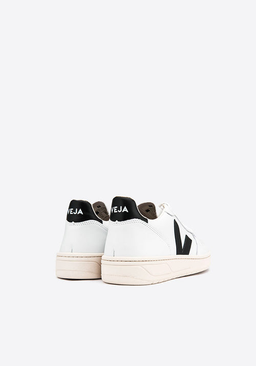 V-10 Leather Sneakers Extra White/Black