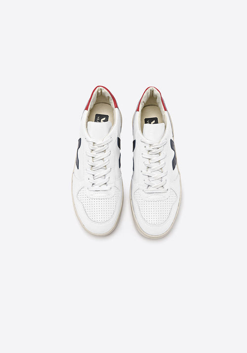 V-10 Leather Sneakers Extra White Nautico/Pekin