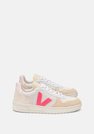 V-10 Suede Sneakers Multico/Natural/Rose/Fluo - Tuchuzy