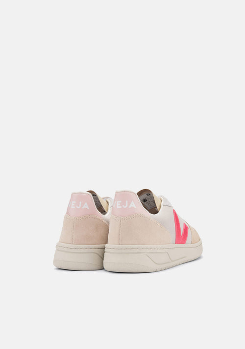 V-10 Suede Sneakers Multico/Natural/Rose/Fluo - Veja - Tuchuzy