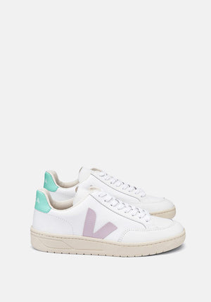 V-12 Leather Sneakers Extra White/Parme/Turquoise