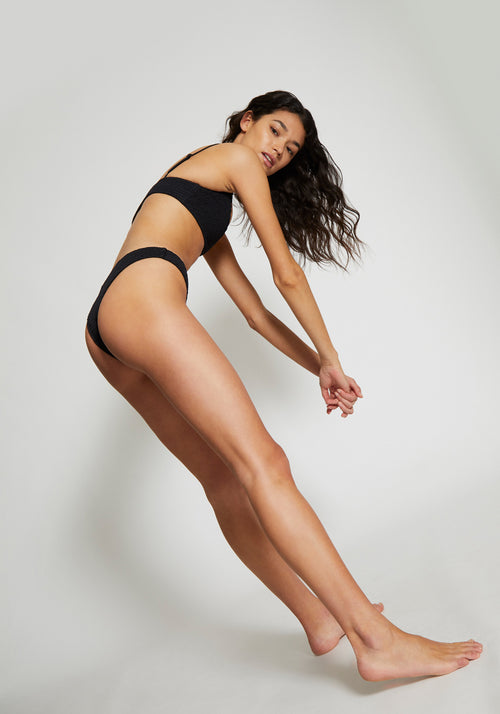 Sofia Shirring Bottoms Black