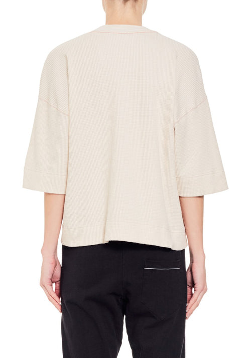 Wide Rib Cropped T-Shirt